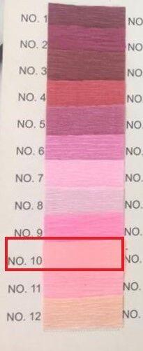 Гофра Китай, 250*50 см №10 розовый персик