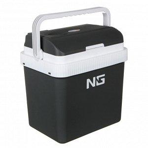 NG Холодильник автомобильный, объем 24 л, 12В/220В, серый