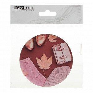 ЮниLook Зеркальце подарочное, металл, стекло, d7,5см, 6-12 дизайнов