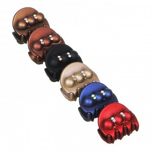 BERIOTTI Заколка-краб для волос с декором, пластик, 3см