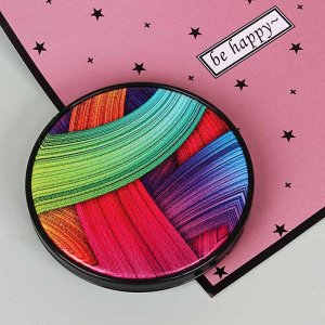 ЮниLook Зеркало карманное, стекло, пластик, d6,8см, 12 дизайнов