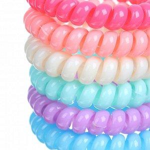 BERIOTTI Набор резинок для волос Спиралька 2шт, пластик, d5см, 6-10 цветов