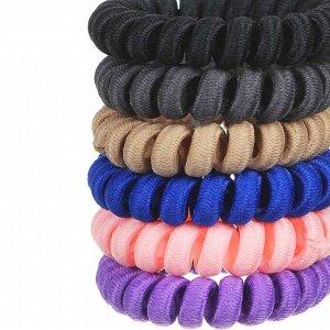 BERIOTTI Набор резинок для волос Спиралька, 2шт, пластик, 5,5см, 6 цветов