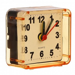 LADECOR CHRONO Будильник, пластик, 5,7х5,5х2,7см, 4 цвета, 1хАА, арт 1-1