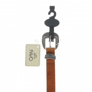 PAVO Ремень женский, ПУ, сплав, ширина 2,3см, длина 105см, 2 цвета, РЖ20-1