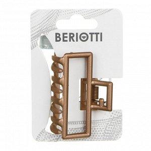 С BERIOTTI Краб для волос, металл, пластик, 5см, 2 дизайна, 4426-9