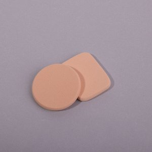 Спонжи для макияжа ЮниLook, 2 шт, латекс, d.5,5см/4,3х5,3 см