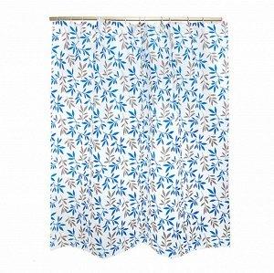 VETTA Шторка для ванной «Ветви», ПЕВА, 180х180см, 3 цвета