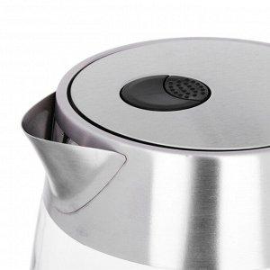 LEBEN Чайник электрический 1,8л, 1850Вт, стекло, LED подсветка