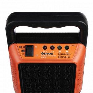ЕРМАК Зарядное устройство трансформаторное автомат, 6A, 6В/12В, пластик корпус