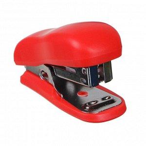 Степлер канцелярский малый для скоб №24/6, 6,5x3,8см, ассорти 3 цвета, в карт.уп
