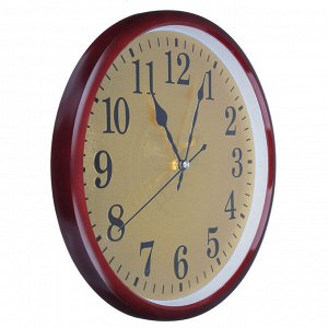 "LADECOR CHRONO Часы настенные, d29,5см, пластик, плавный ход, 1хАА, 2 цвета ""серебро/золото"""