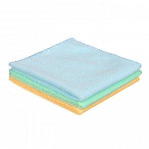 VETTA Набор салфеток из микрофибры универсальные 3шт, 30x30см