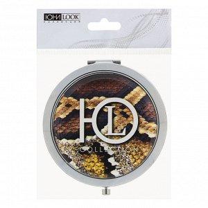 ЮниLook Зеркало карманное, металл, стекло, d7см, 4-20 дизайнов
