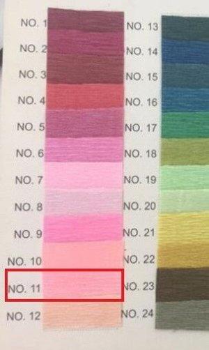 Гофра Китай, 250*50 см № 11 нежный розовый