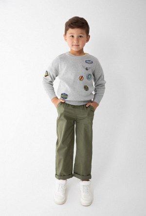 Джемпер детский для мальчиков Rodrigo светло-серый
