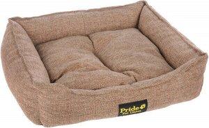 Лежак для кошек и собак ПРОВАНС прямоугольный 70*60*23 см, песочный