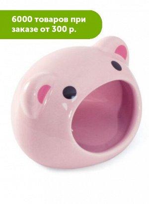 Домик для мелких животных керамический Свинка 75*65*65мм, Triol
