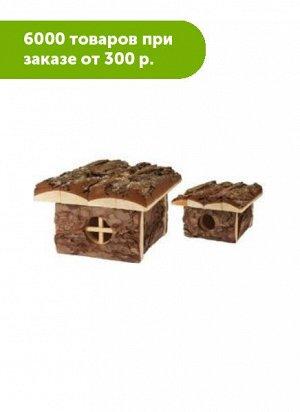 """Домик для грызунов из неокоренного дерева """"Бунгало"""" 16*19*h10,5"""