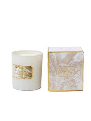 """Свеча Ma*ngo Floox, 12,2х12,2х10 см, цв.мультиколор, комбинированные материалы, вес 150 гр, ароматическая, аромат """"манго"""", в стеклянном стакане"""