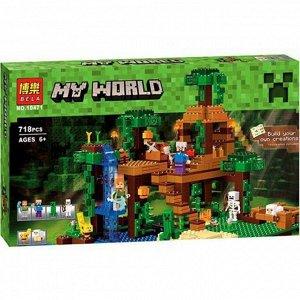 Конструктор Minecraft My World «Домик в джунглях на дереве» 718 деталей , Bela арт. 10471
