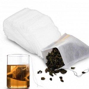 Фильтр пакеты для чая с веревкой 5,5*7 см 100 шт.
