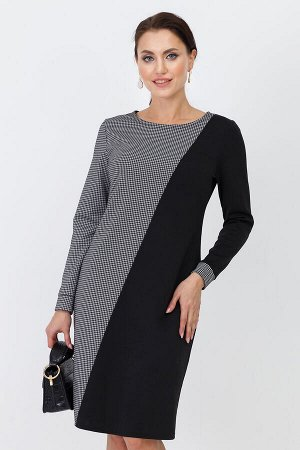 """Платье Платье с принтом """"гусиная лапка"""" – всегда выгодная инвестиция в гардероб. Модель идеально впишется в офисный дресс-код – с лодочками или ботильонами, например. Кстати, оно прекрасно впишется и"""