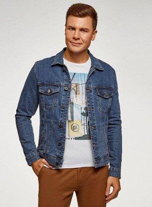 Куртка джинсовая на 52 размер                   Синий