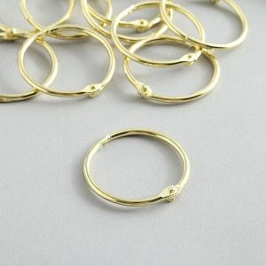 """Кольца для творчества (для фотоальбомов) """"Золото"""" d=4 см набор 10 шт"""