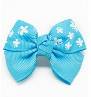 Заколка Ткань: Репсовая лента Состав: 100% полиэстер Описание: Очаровательная заколка-бантик для маленьких принцесс, принт - миниатюрные бабочки. Продается упаковками, в упаковке 8 шт.Цена за одну