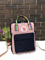 Подростковый рюкзак черно-розовый