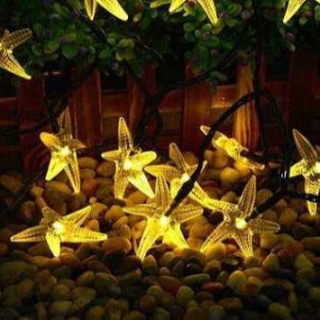 Садовые гирлянды на солнечной батарее! Невероятно красиво⭐  — Садовая солнечная гирлянда - звёзды — Садовое освещение