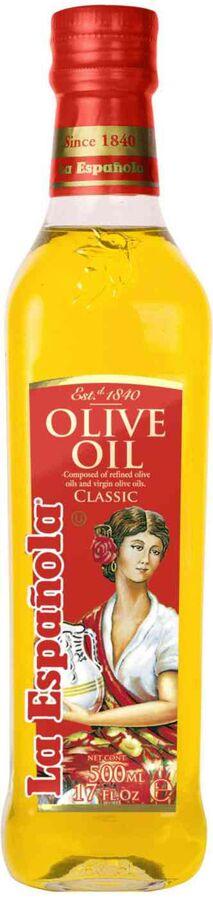 """Масло оливковое рафинированное с добавлением нерафинированного Olive Oil Classic """"La Espanola"""" ст/б 500мл"""