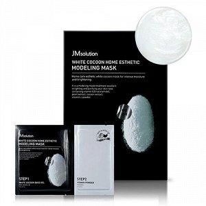 JMSOLUTION Альгинатная маска с протеинами шелкопряда и углем55г BLACK COCOON HOME ESTHETIC MODELING MASK