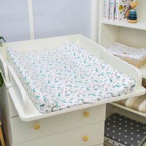 Доска пеленальная Polini Kids «Единорог Радуга», для детских кроватей, голубой