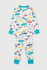 Пижама(Весна-Лето)+boys (цветные машинки на белом)