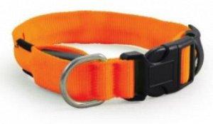 Ошейник светодиодный неоновый,оранжевый,25*310-410мм