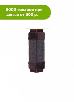Когтеточка ворс малая угловая с мехом, 42х11, Кот Лукас