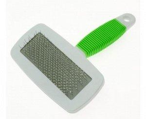 Пуходерка пластиковая с каплей резиновая ручка 9401D 16*11,5см