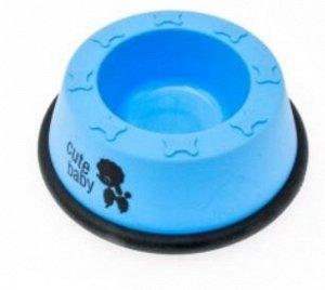 Миска пластик круглая матовая с резинкой маля 150мл (d8) Jack&King