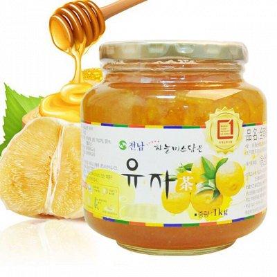 Корея, Япония- лапша, соусы, снеки, доставка 3дня — Алоэ, имбирь, цитрон, лимон, грейпфрут с медом — Мед