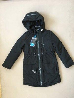7261 (черный) Пальто для девочки