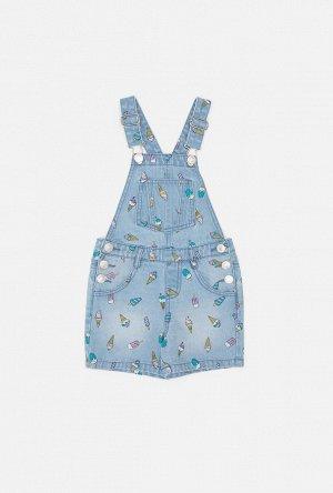 Комбинезон джинсовый детский для девочек Elgon голубой