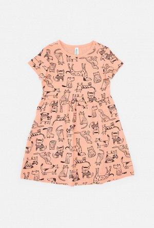 Платье детское для девочек Rusne персиковый