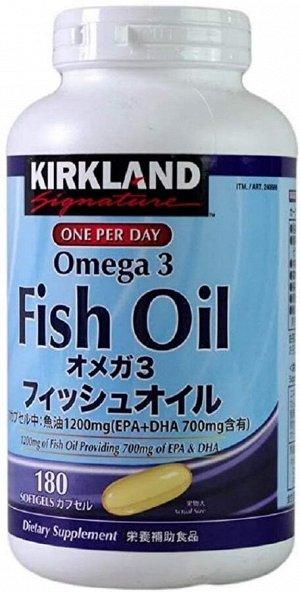 KIRKLAND Fish Oil - Омега-3 рыбий жир