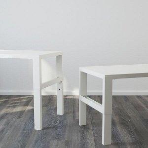 PÅHL ПОЛЬ Письменный стол, белый 128x58 см
