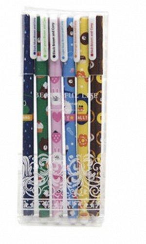 Ручка гелевая набор 6 цветов
