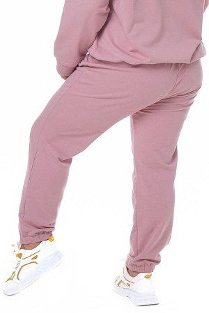 Брюки-4436 Модель брюк: Спортивные; Материал: Трикотаж;   Фасон: Брюки; Параметры модели: Рост 163 см, Размер 50 Брюки спортивные трикотажные пудра Универсальные и невероятно комфортные брюки из мягко