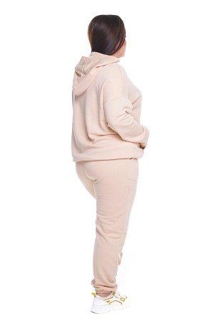 Брюки-4426 Модель брюк: Спортивные; Материал: Трикотаж;   Фасон: Брюки; Параметры модели: Рост 168 см, Размер 54 Брюки спортивные плотные трикотажные бежевые Универсальные и невероятно комфортные брюк