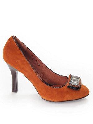 Туфли Страна производитель: Китай Размер женской обуви x: 33 Полнота обуви: Тип «F» или «Fx» Тип носка: Закрытый Форма мыска/носка: Закругленный Каблук/Подошва: Каблук Материал верха: Замша Материал п